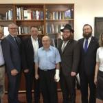 Nathan Sharansky a hazai zsidóság vezetőivel
