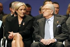 Marine és Jean-Marie Le Pen
