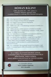 A TEV javaslata Hóman-emléktáblára