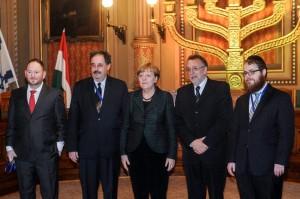 Angela Merkel a zsidó közösségek vezetőivel