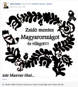 Ulics: Zsidó mentes Magyarországot!