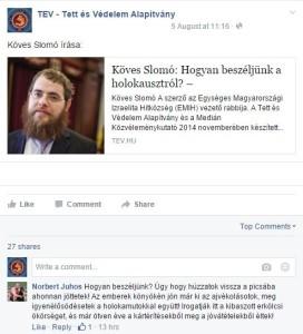 A holokauszttagadó komment