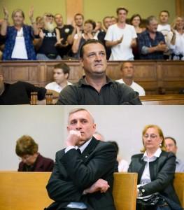 Budaházy és Ágoston a bíróság előtt