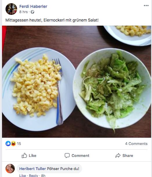 Nokedli és saláta Hitler születésnapjára