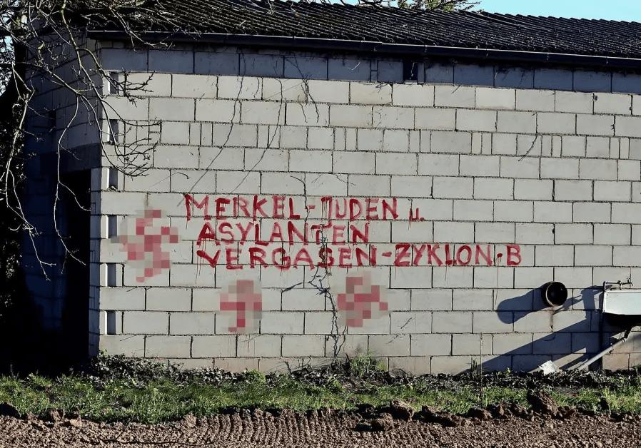Náci graffitik Heidelbergben, a holokauszt emléknapján