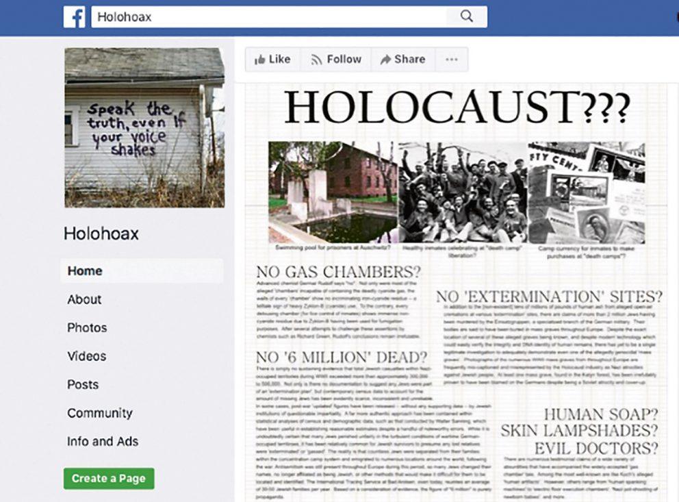 Megbirkózik-e a Facebook a holokauszt-tagadással?